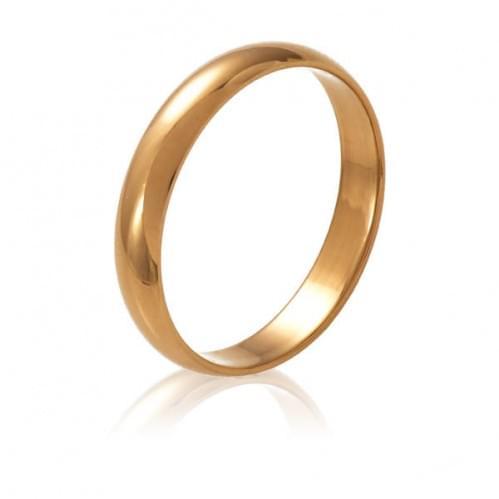 Золота обручка - класична (європейка) ОК015.3