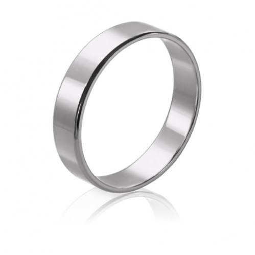 Обручальное кольцо из белого золота ОК015.4Бевр