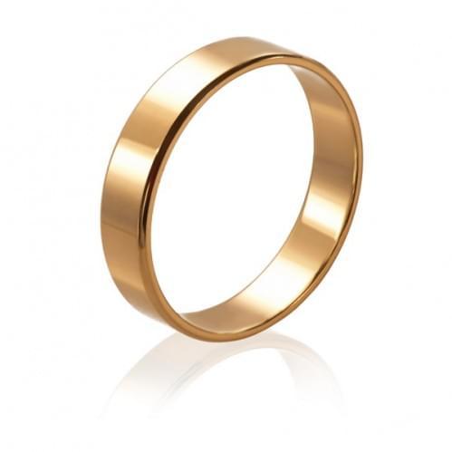 Золотое обручальное кольцо ОК015.4евр