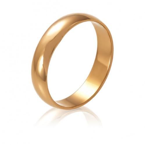 Золотое обручальное кольцо ОК015.4