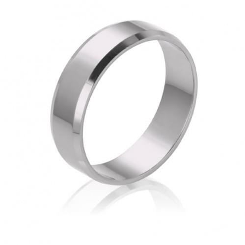 Обручальное кольцо из белого золота - классическое (англичанка) ОК015.5Банг