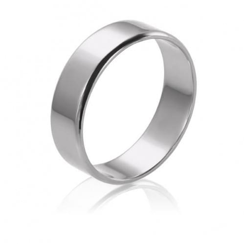 Обручальное кольцо из белого золота ОК015.5Бевр