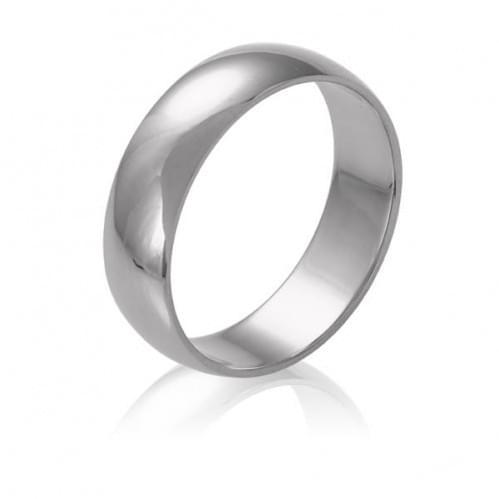 Обручальное кольцо из белого золота ОК015.5Б