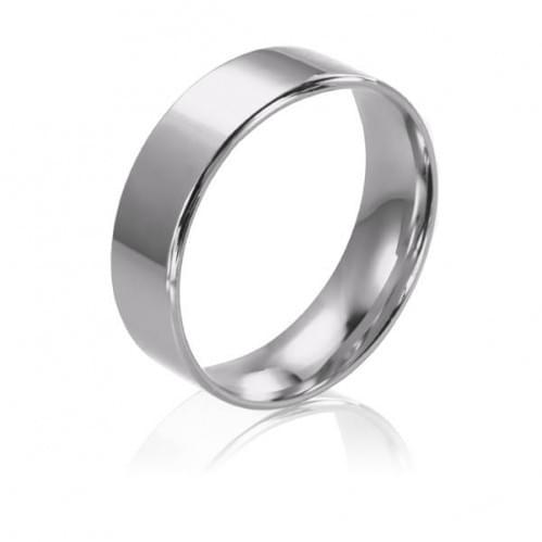 Обручальное кольцо из белого золота ОК015.5КБевр