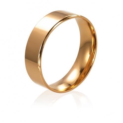 Золотое обручальное кольцо ОК015.5Кевр