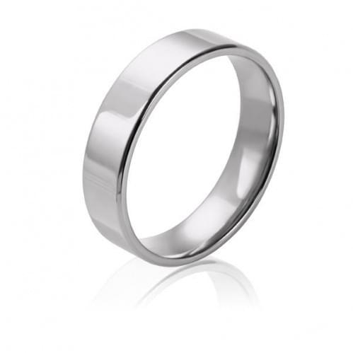 Обручальное кольцо из белого золота - комфорт ОК015.6КБевр