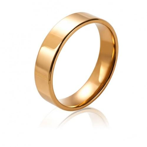 Золотое обручальное кольцо ОК015.6Кевр