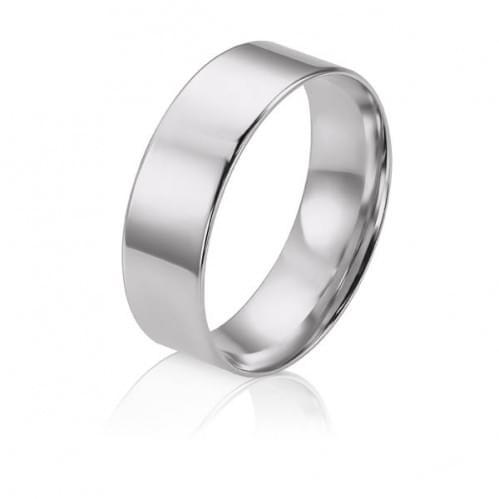Обручальное кольцо из белого золота ОК015.7КБевр