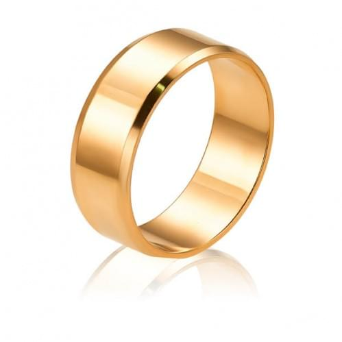 Золотое обручальное кольцо ОК015.7анг