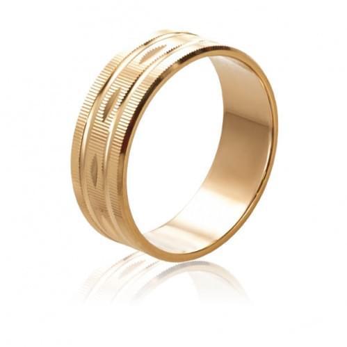 Золотое обручальное кольцо ОК016