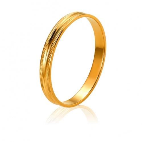Золота обручка ОК024
