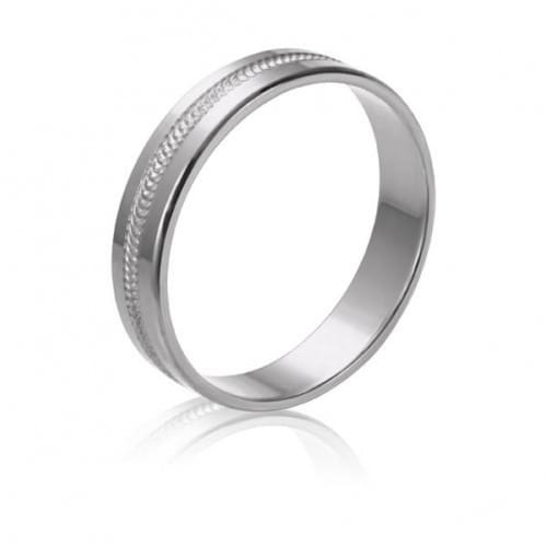 Обручальное кольцо из белого золота ОК196б
