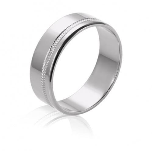 Обручальное кольцо из белого золота ОК220Б