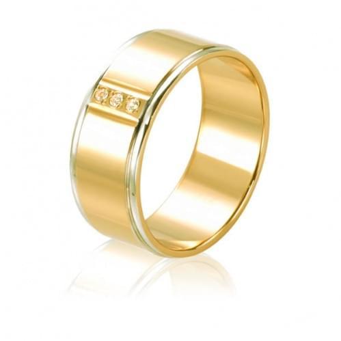 Золота обручка з фіанітом ОК235Л