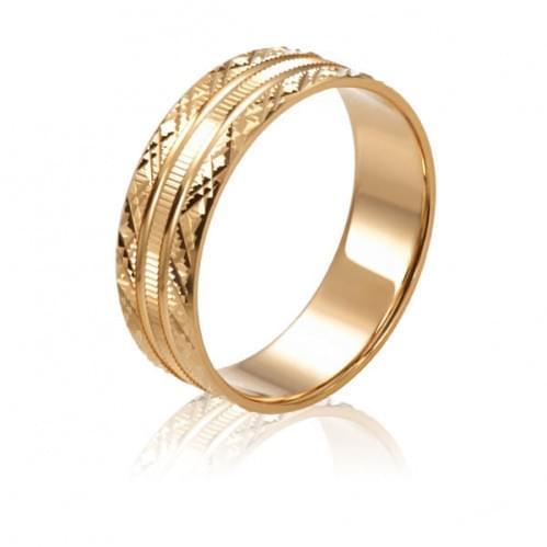 Золотое обручальное кольцо ОК240