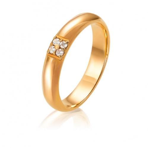 Золота обручка з діамантом ОК274.00100н