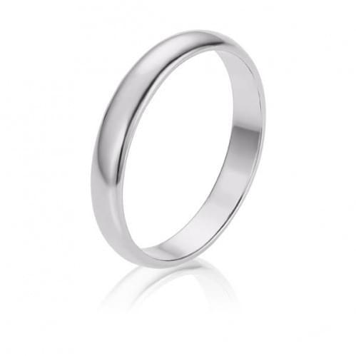 Обручальное кольцо из белого золота ОК274.1Би