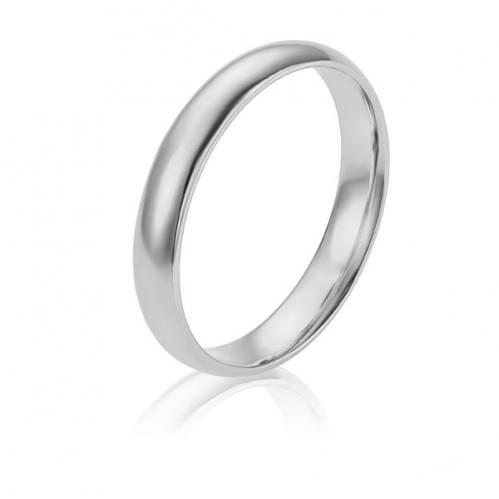 Обручальное кольцо из белого золота ОК274.4КБи