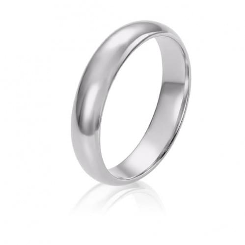 Обручальное кольцо из белого золота ОК274.5КБи