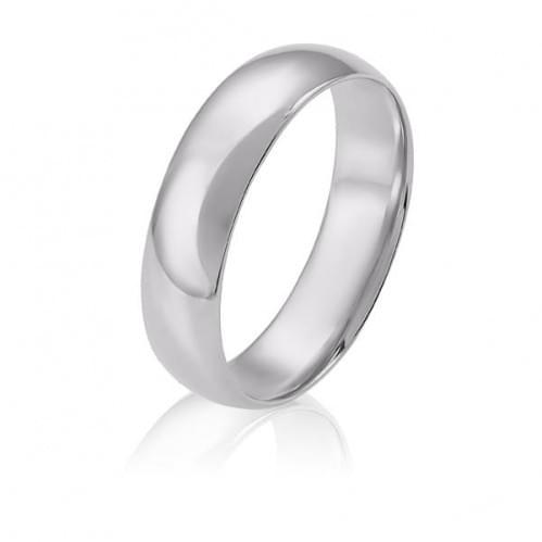 Обручальное кольцо из белого золота ОК274.6КБи