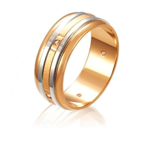 Золотое обручальное кольцо ОК304