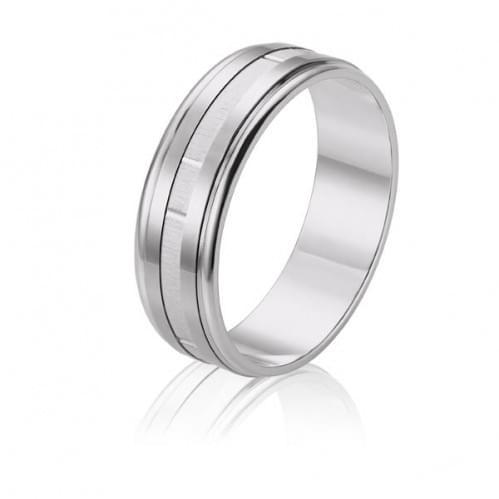 Обручальное кольцо из белого золота ОК304.1(2)Б