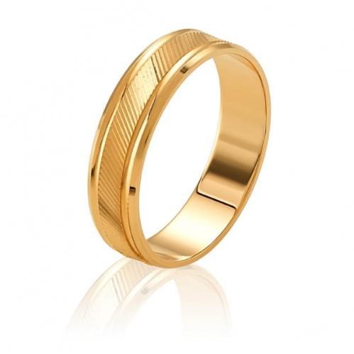 Золотое обручальное кольцо ОК327