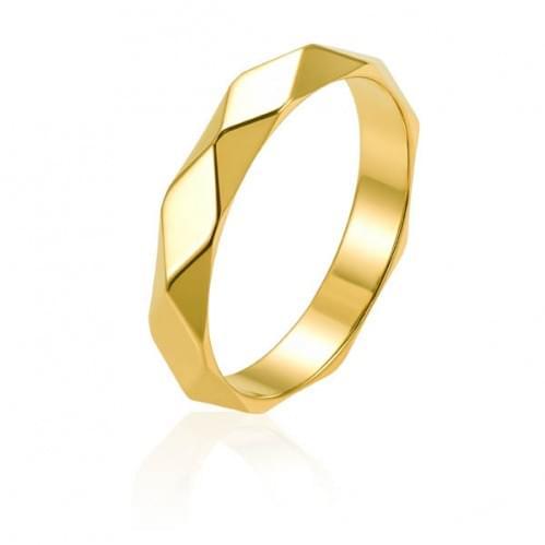Обручальное кольцо из лимонного золота ОК334Л