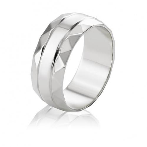 Обручальное кольцо из белого золота ОК335.1Бр