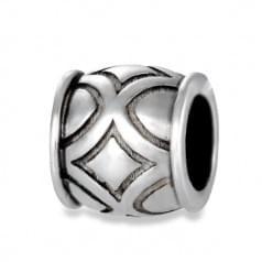 Кулон серебряный без вставки (подвеска)