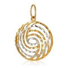 Золотой кулон (подвеска) без камней