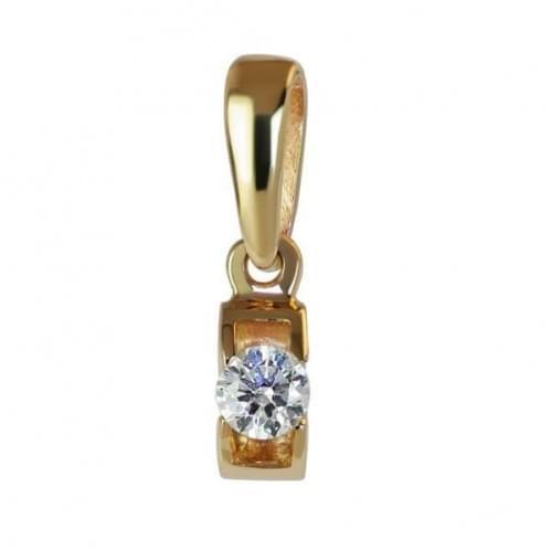 Золотая подвеска-кулон со вставкой ПВ1105н