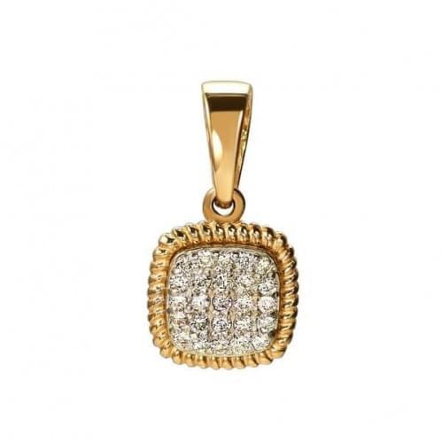Золота підвіска-кулон зі вставкою ПВ1300н