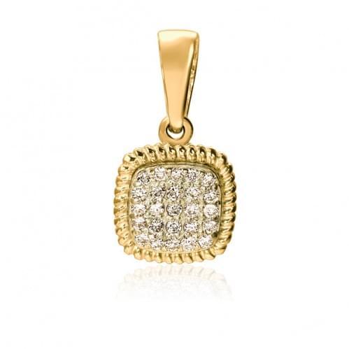 Подвеска-кулон из лимонного золота с бриллиантом ПВ1300.00100Лн