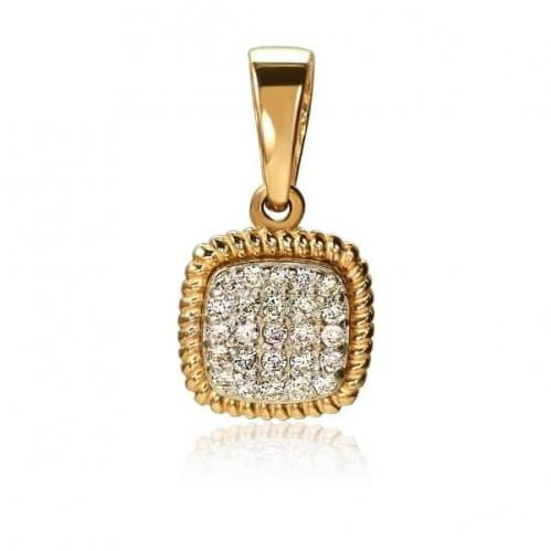 Золота підвіска-кулон з діамантом ПВ1300.00100н