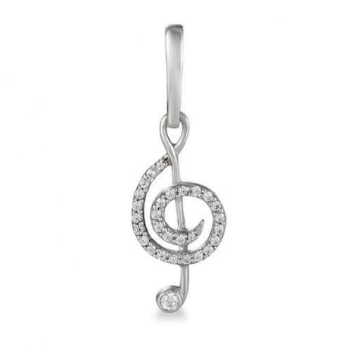 Кулон серебряный Скрипичный Ключ
