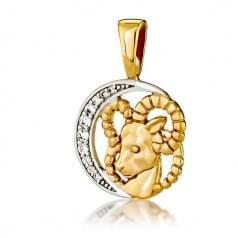 Кулон золотой Знак Зодиака Овен