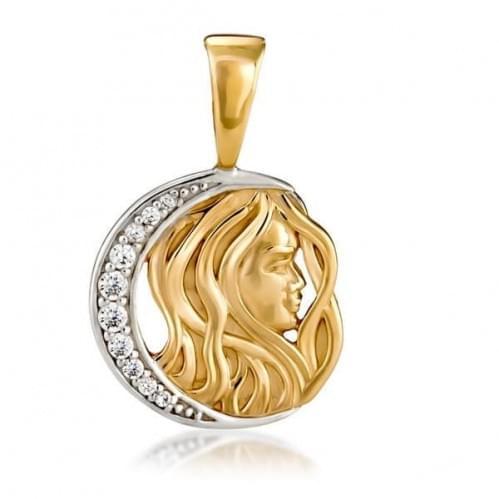 Кулон золотой Знак Зодиака Дева