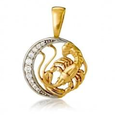 Кулон золотой Знак Зодиака Рак