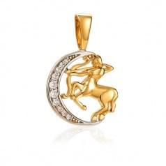 Кулон золотой Знак Зодиака Стрелец