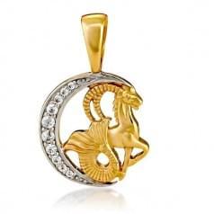 Кулон золотой Знак Зодиака Козерог