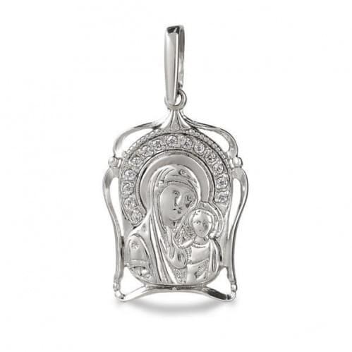 Серебряная подвеска-кулон с фианитом ПВ311с