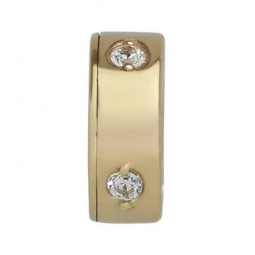 Золотая подвеска-кулон с фианитом ПВ321и