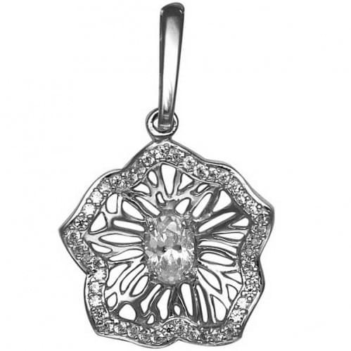 Серебряная подвеска-кулон с цирконием ПВ557с
