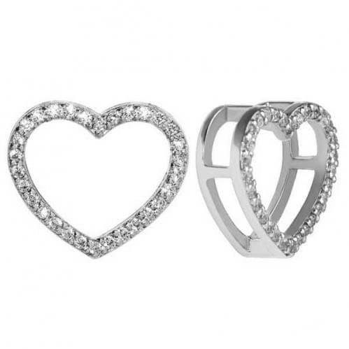 Кулон (подвеска) серебряный в виде сердца