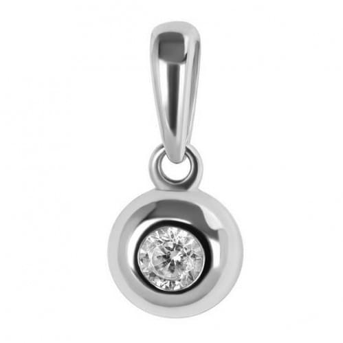 Серебряная подвеска-кулон с фианитом ПВ633с