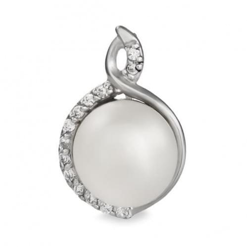 Срібна підвіска-кулон з перлами ПВ638с