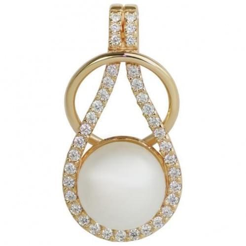 Золота підвіска-кулон з перлами ПВ661и
