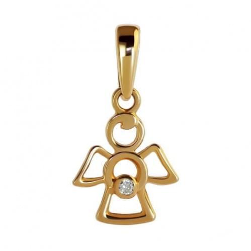 Кулон золотой (подвеска) с фиантиами