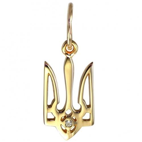 Кулон золотой Украинский герб